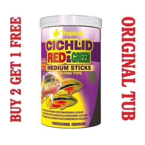 Buy CICHLID RED & GREEN MEDIUM STICKS online